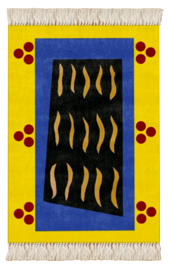 Dahlia Elsayed and Andrew Demirjian, Small Rug, Yellow Dark Blue