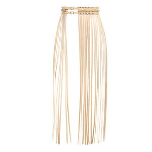 YVY Leather Fringe Belt