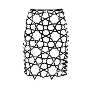 YVY Leather Star Skirt