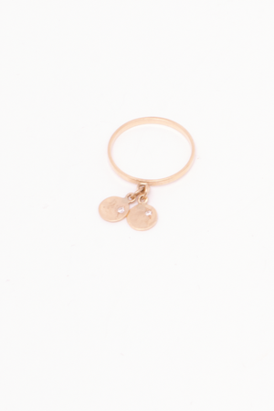 SHANTILLY 14K Customized Charm Ring