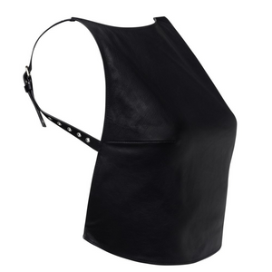 YVY Leather Eyelet Harness Top Black