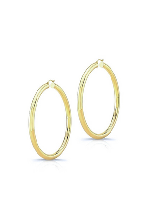 ANEV 14K Thin Large Hoops