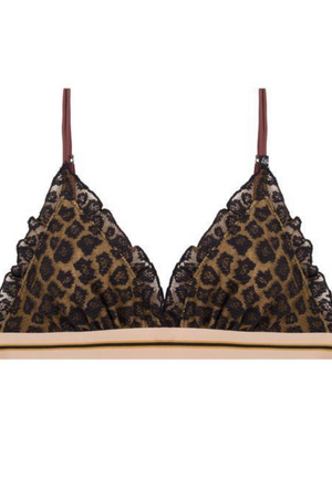 LOVE STORIES Hay Leopard Print Lace Bra