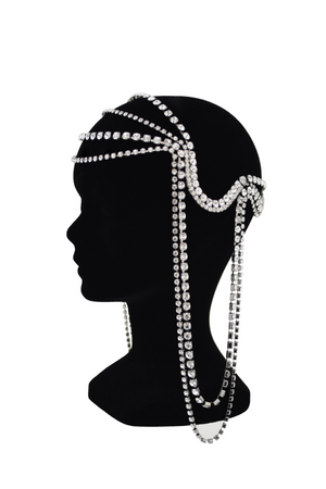 HELENE ZUBELDIA Crystal Waterfall Head Crown / Harness