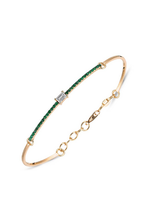 OWN YOUR STORY Diamond Baguette Emerald Bracelet
