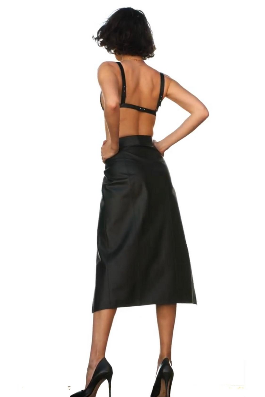 YVY Leather Shibui Skirt