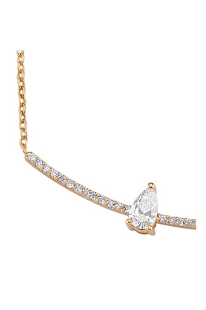 OWN YOUR STORY Pear Diamond Arc Necklace