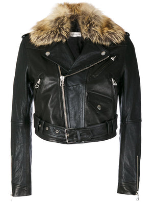 FAITH CONNEXION CropLeather Jacket