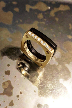 MATTHIA'S & CLAIRE Cube Double Ring