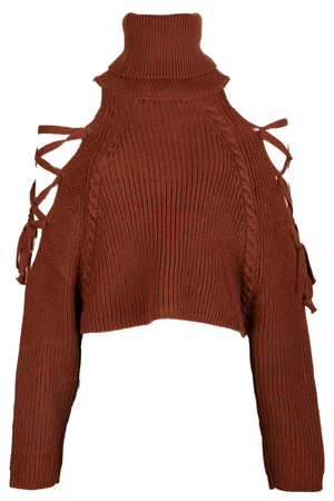 AOTC Mina Sweater Brown