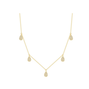 LARSA MARIE Rose Teardrop Necklace