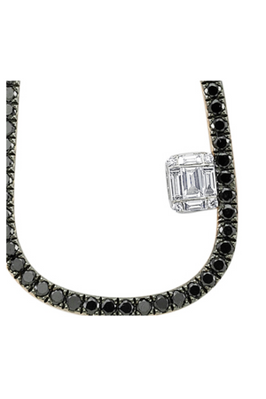 OWN YOUR STORY Oblong Black Diamond Necklace