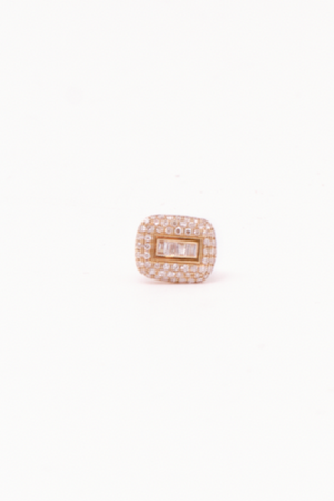 ANEV Rectangle Diamond Stud