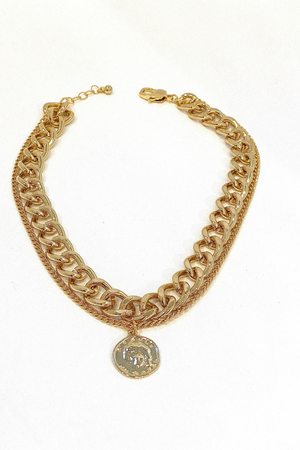 AOTC Double chain link Necklace