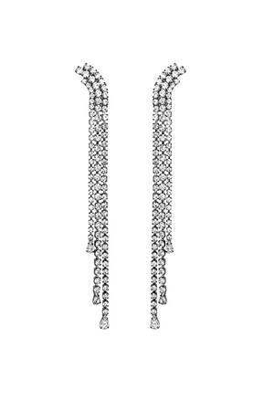 HELENE ZUBELDIA Crystal Earrings