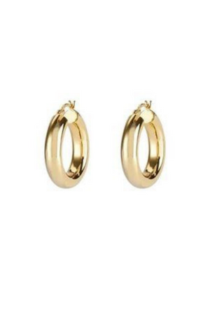 ANEV JEWELRY 14K MEDIUM HOOPS