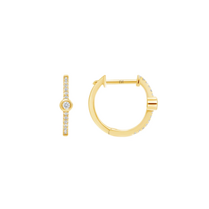 LARSA MARIE Beverly Diamond Hoop Earrings
