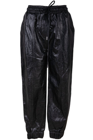 AOTC Mervis Vegan Leather Jogger Pants Black