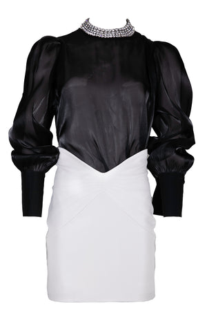 AOTC Seth High Rise Leather Mini Skirt
