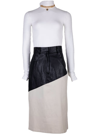 AOTC Gelb Leather Trim Skirt