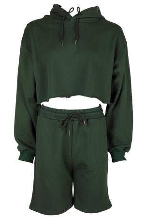 AOTC Frid Cropped Sweatshirts Set Green