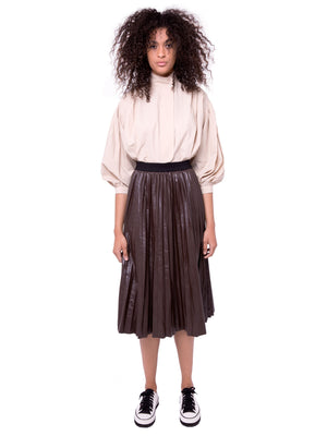 AOTC Leah Leather Skirt