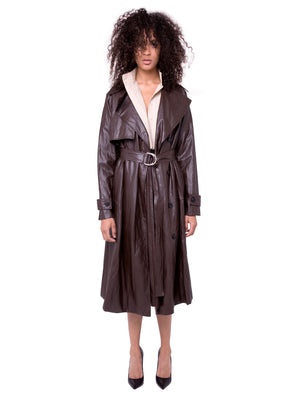 AOTC Faux Leather Trench