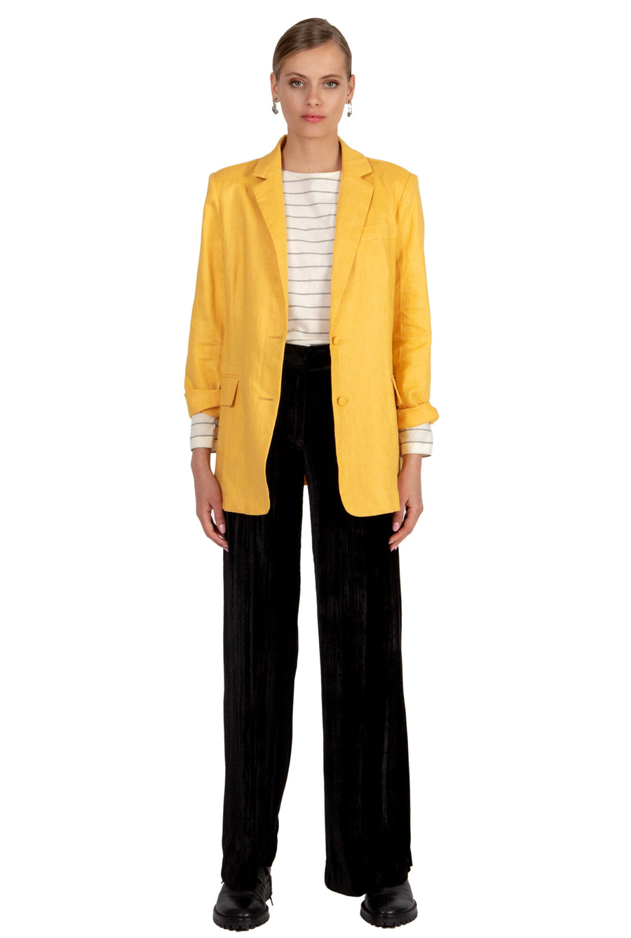 AOTC Pierre Yellow Blazer
