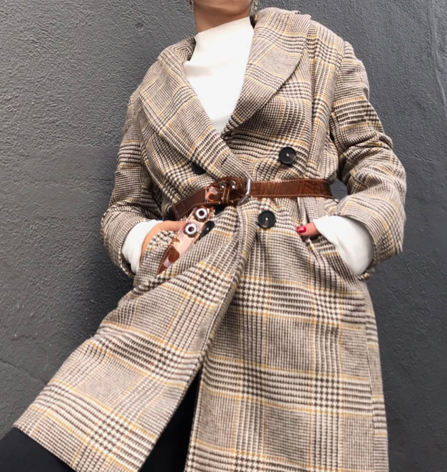 AOTC Plaid Box Coat SL20