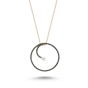 OWN YOUR STORY Black Diamond Infinity Necklace