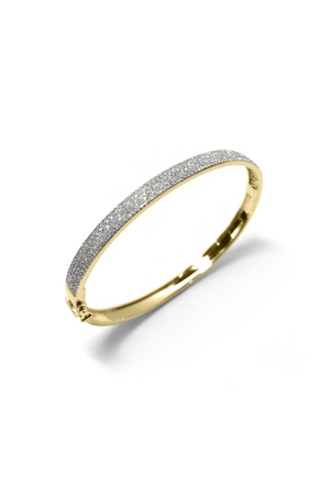 ANEV 14k Pave Diamond Bangle Bracelet