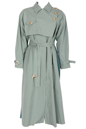 AOTC Elsie Pleated Trench Coat
