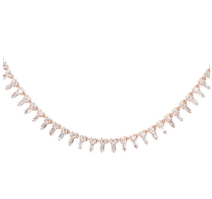 LUNA SKYE Gold Full Baguette Diamond Necklace