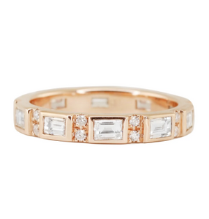LUNA SKYE Thick Baguette Diamond Eternity Band