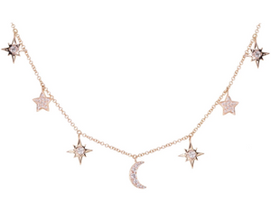LUNA SKYE It's Written In The Stars Charm Necklace
