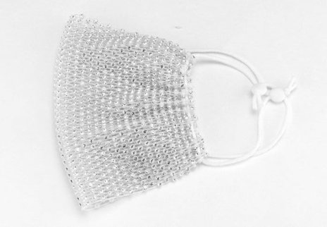 AOTC Rhinestone Net Mask Black