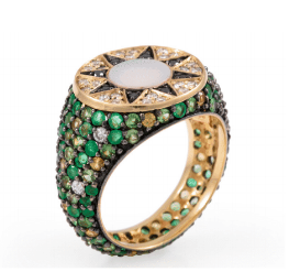 L'ATELIER NAWBAR Ibiza Element Emerald Pinky Ring