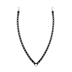 YVY Black Rivet Neck Strap