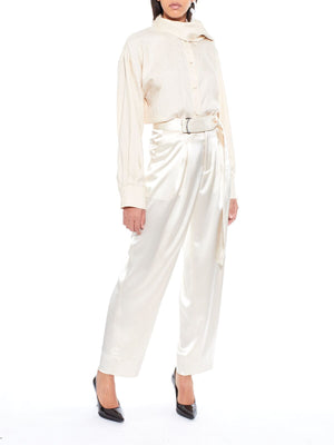 ARIAS Satin Wide Leg Pant
