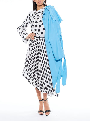 SHARON WAUCHOB Polka Dot Asym Skirt