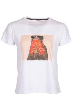 PATRICK HOELCK Red Gloves T-shirt