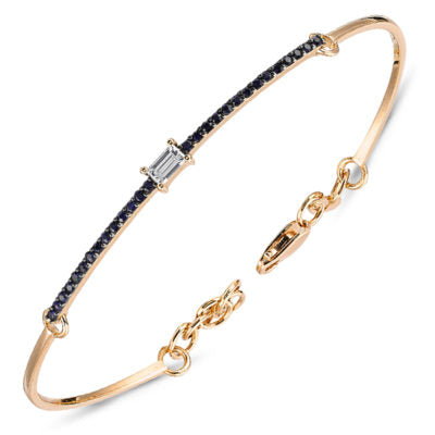 OWN YOUR STORY Diamond Baguette Sapphire Bracelet