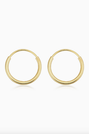 ANEV 14k Flat tubing hoops (30mm)