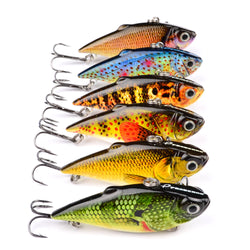 6pc 3D Realistic Crankbait Lures Set