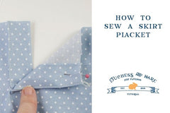 How to Sew a Skirt Placket | Duchess & Hare