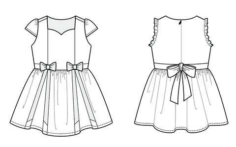 Duchess & Hare patterns:  Little Bow Pleat
