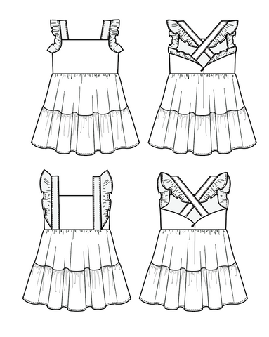 Summer Thyme pdf dress pattern by Duchess and Hare