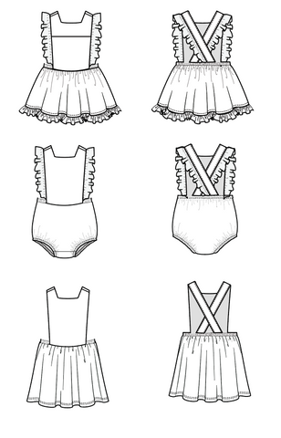 Duchess and Hare Mini Pinny pdf pattern.  Pinafore pattern.