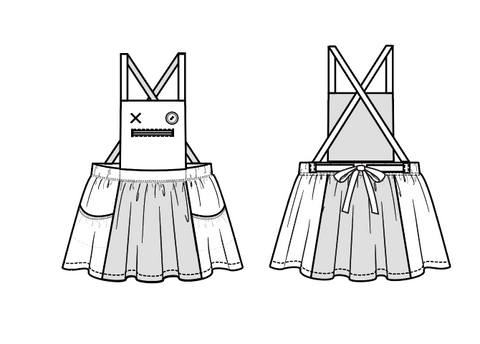 monster mash pinafore pdf pattern duchess and hare