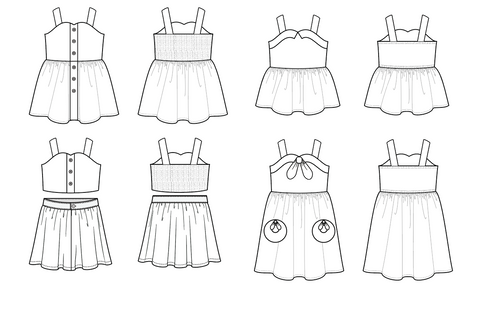 Vintage 2 piece or sundress by Duchess and Hare pdf patterns